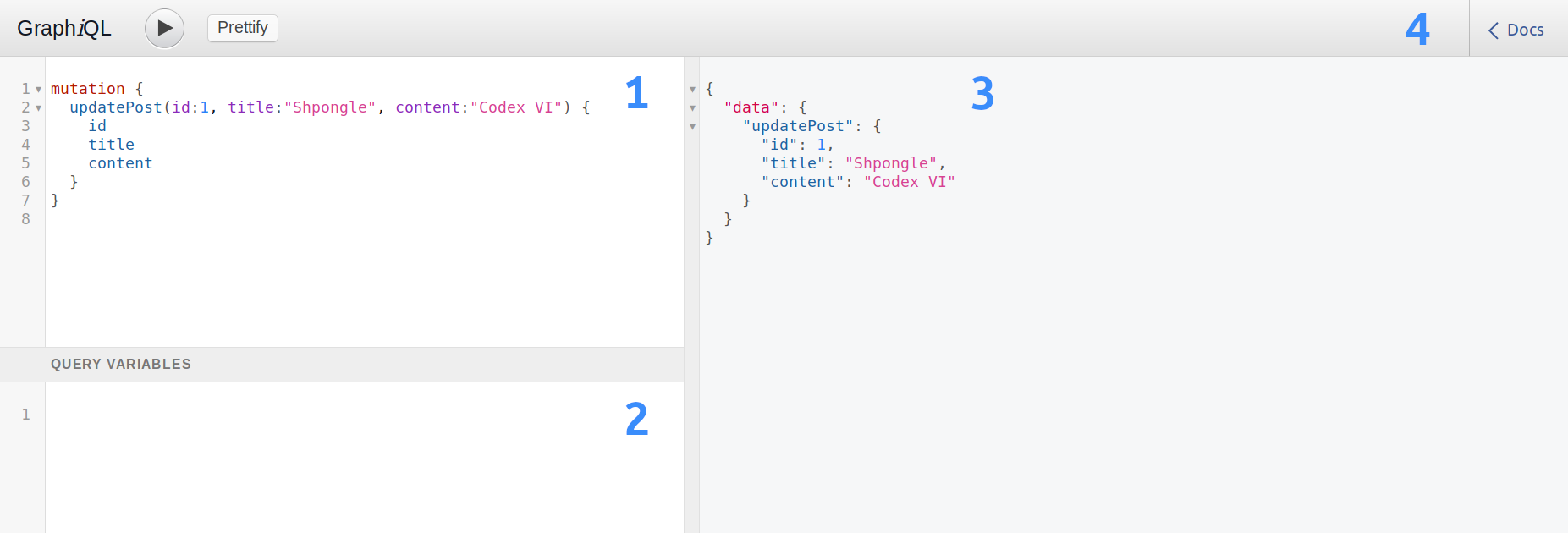 GraphiQL – a Graphical interface to debug GraphQL-based applications